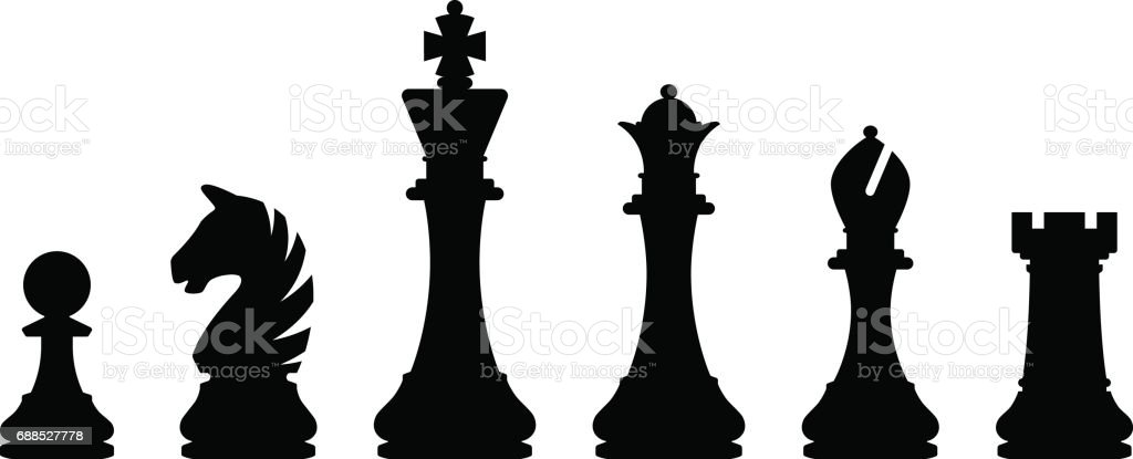 graphic relating to Printable Chess Pieces called Easiest Chess Piece Examples, Royalty-Free of charge Vector Graphics