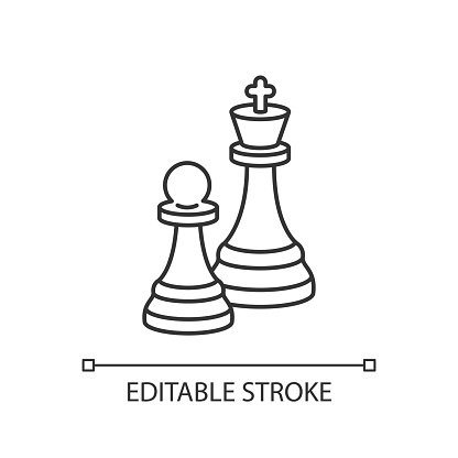 Chess pixel perfect linear icon