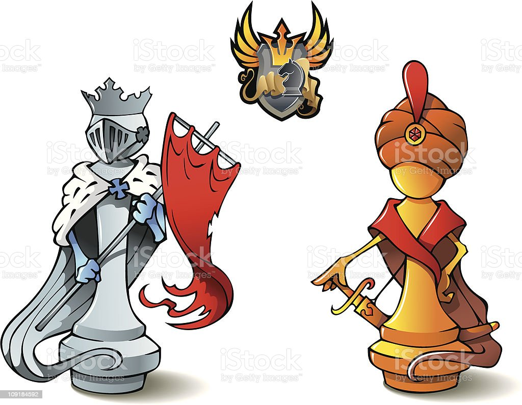 Chess set: Kings royalty-free chess set kings stock vector art & more images of aggression