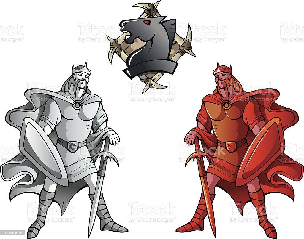 Chess set: Kings royalty-free stock vector art