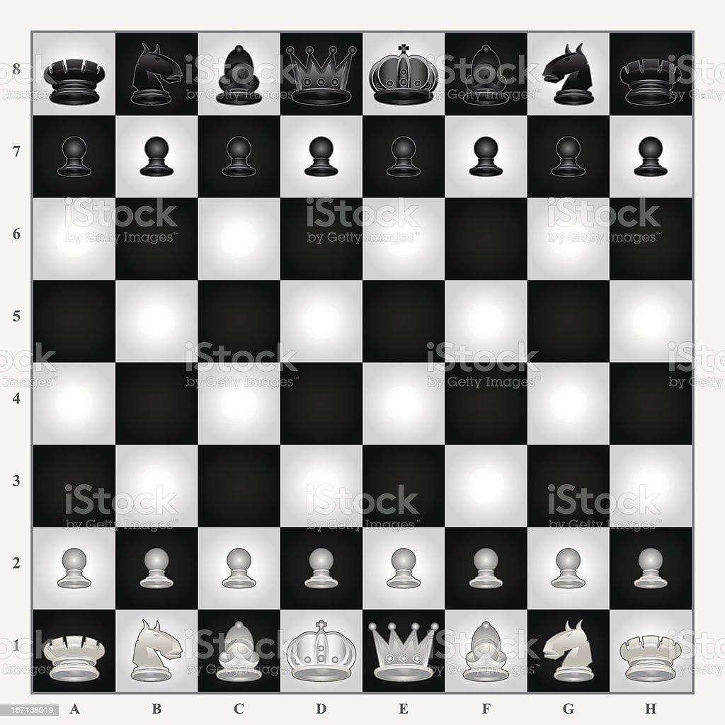 Chess Set royalty-free stock vector art
