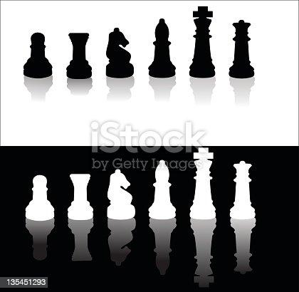 Chess Silhouette Illustration