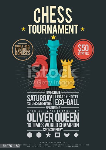 istock Chess Tournament Poster 542701180