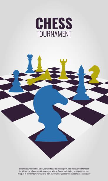 illustrations, cliparts, dessins animés et icônes de tournoi d'échecs - échec