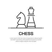 Chess Vector Line Icon - Simple Thin Line Icon, Premium Quality Design Element