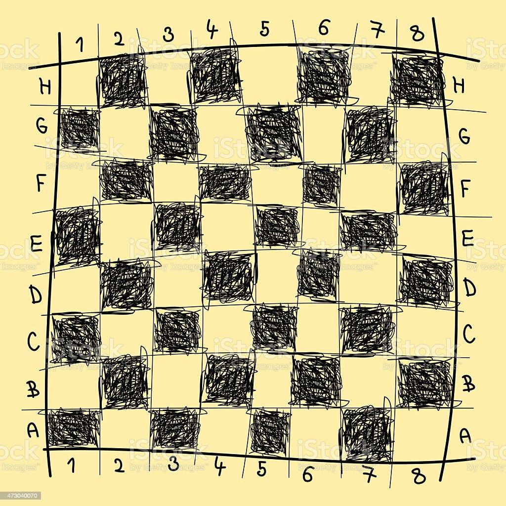 Desenho de Xadrez download vetor e ilustração royalty-free
