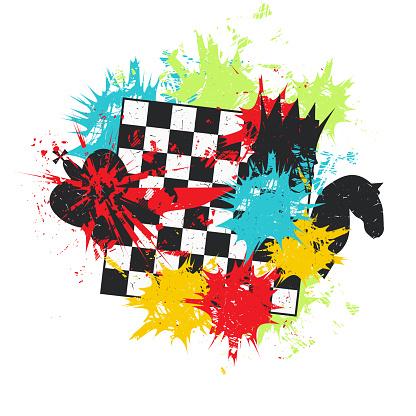 Chessboard. Grunge vector illustration