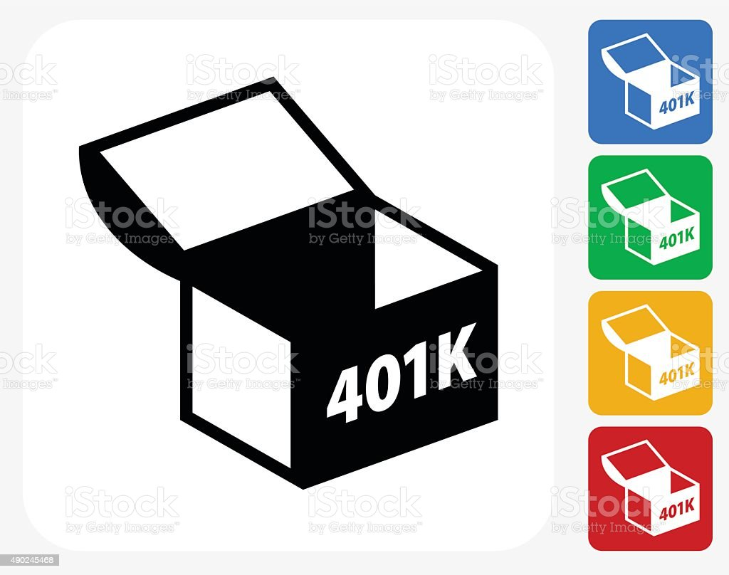 401K Chest Icon Flat Graphic Design vector art illustration