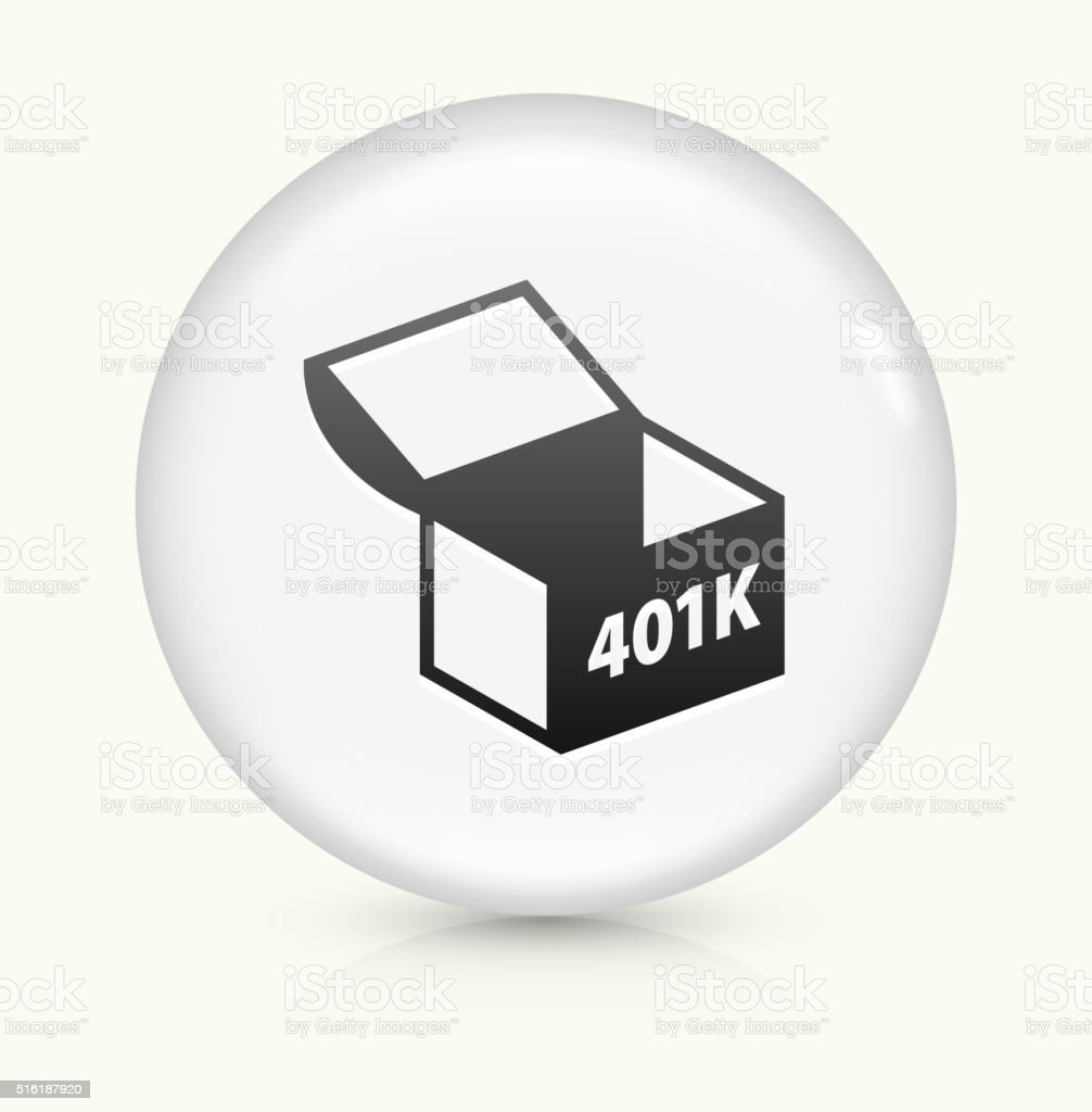 401K Chest icon on white round vector button vector art illustration