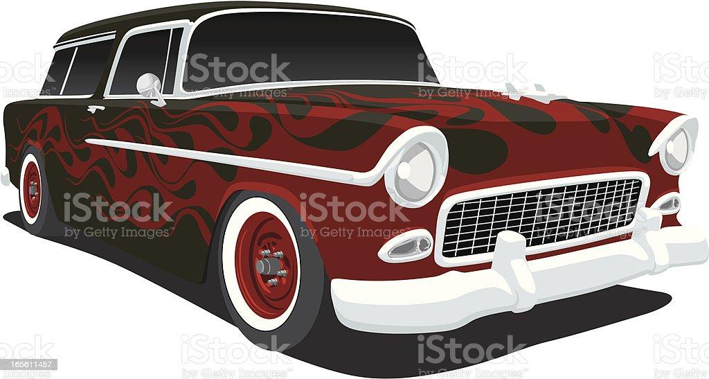 Chevrolet Nomad 1955 vector art illustration