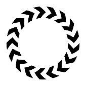 istock Chevron circle icon. Simple flat vector illustration 1136983527
