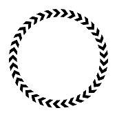 istock Chevron circle icon. Simple flat vector illustration 1138644455