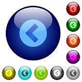 Chevron left color glass buttons