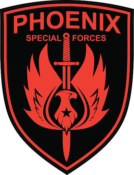 chevron de phoenix - Illustration vectorielle