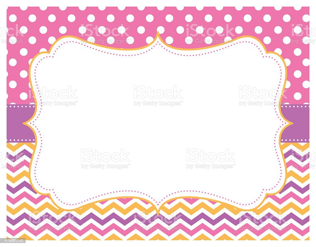 chevron polka dot pink purple yellow background stock