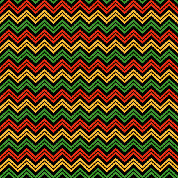 chevron seamless pattern - kwanzaa stock illustrations