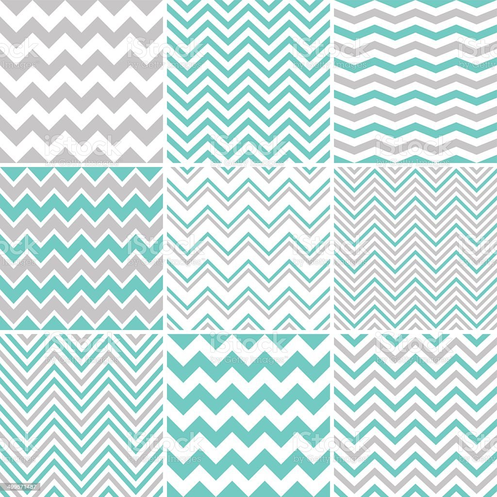 Chevron seamless patterns vector art illustration