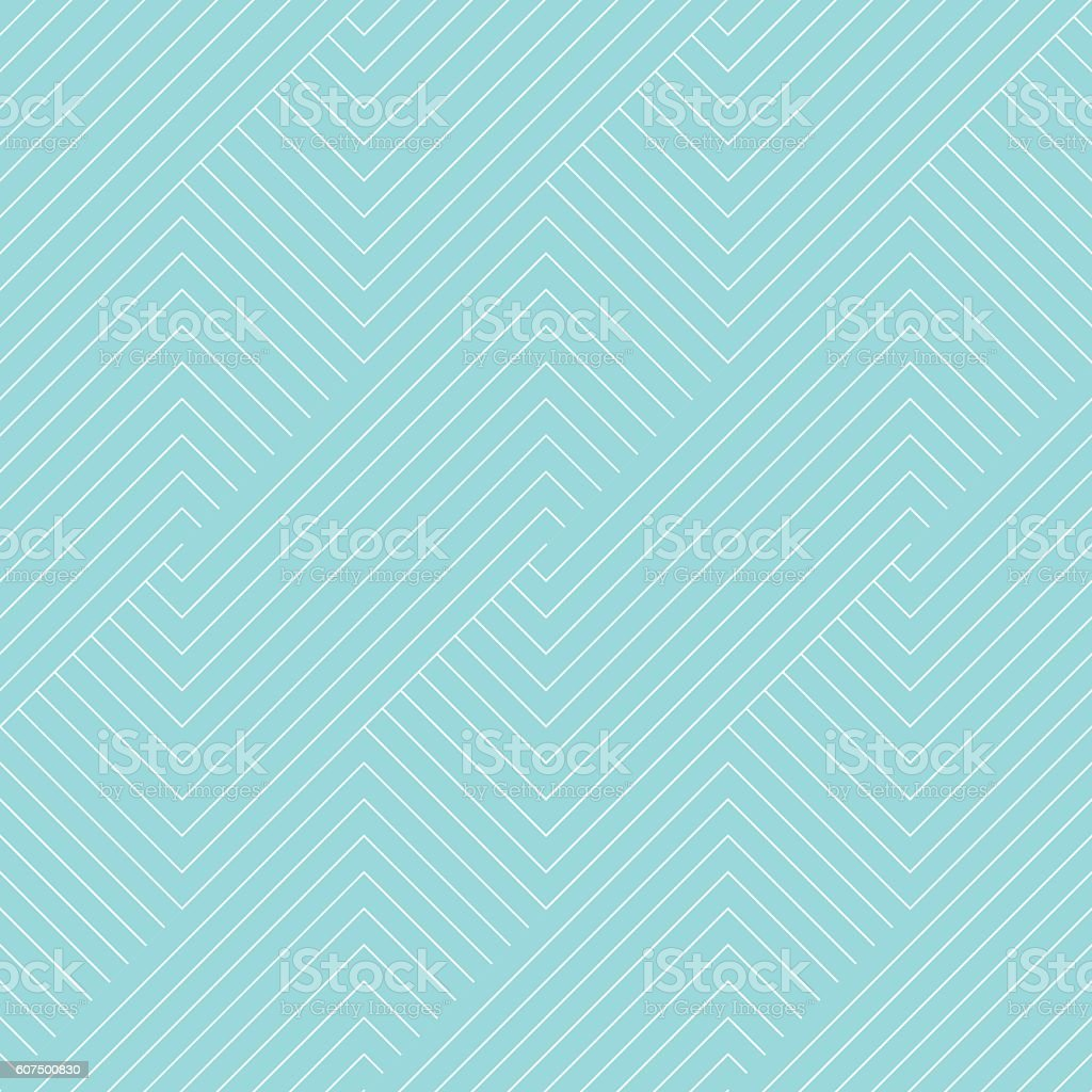 Chevron striped pattern seamless green aqua and white colors. - Illustration vectorielle