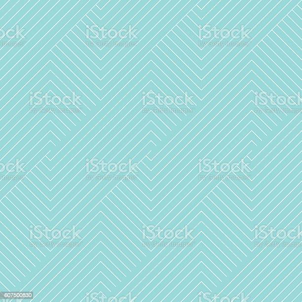 Chevron stripe pattern seamless green aqua and white colors. Geometric striped abstract background vector.