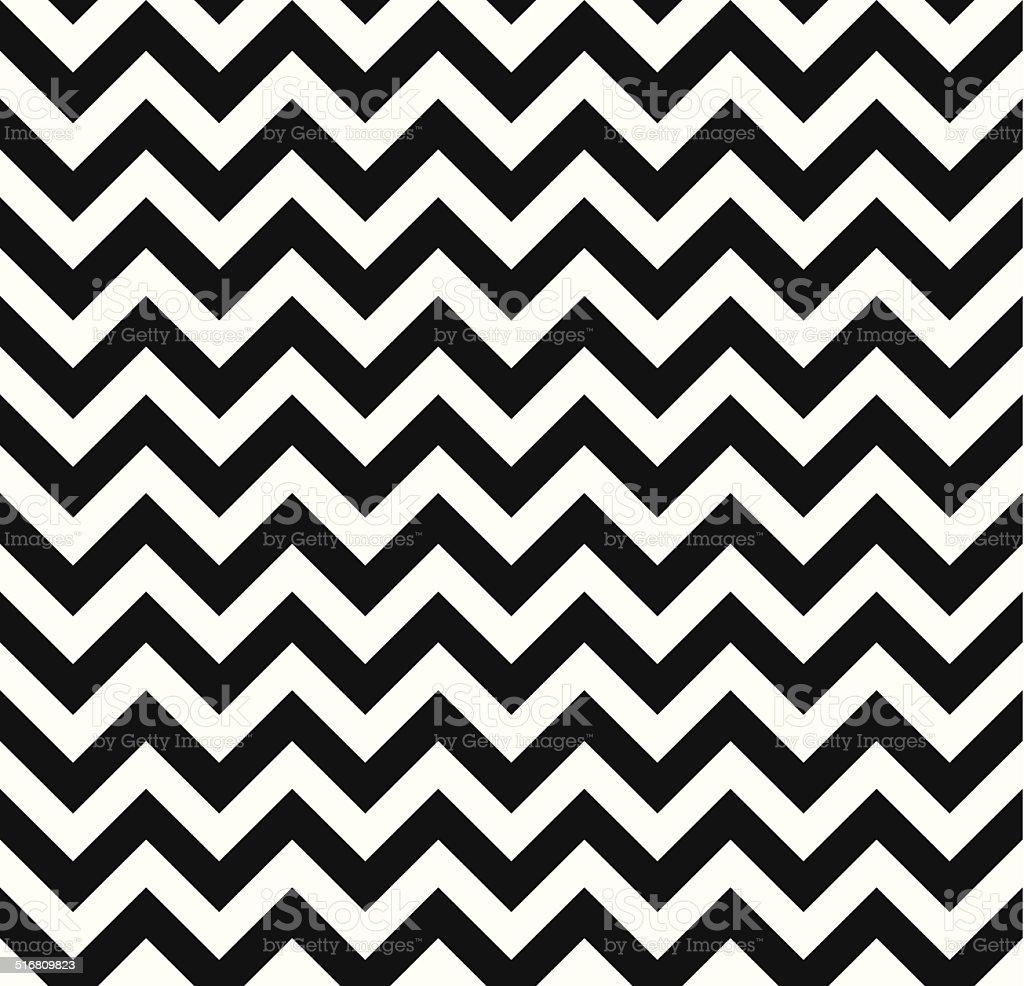 Chevron Zigzag monochrome seamless texture vector art illustration