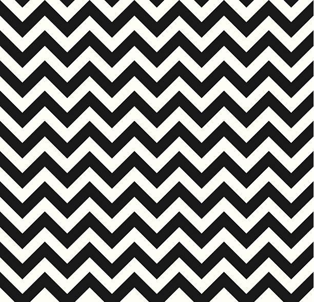 illustrazioni stock, clip art, cartoni animati e icone di tendenza di chevron seamless texture monocromatiche a zigzag - zigzag