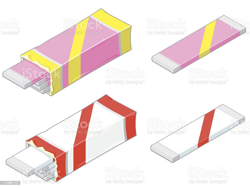 Chewing gum Icon vector art illustration