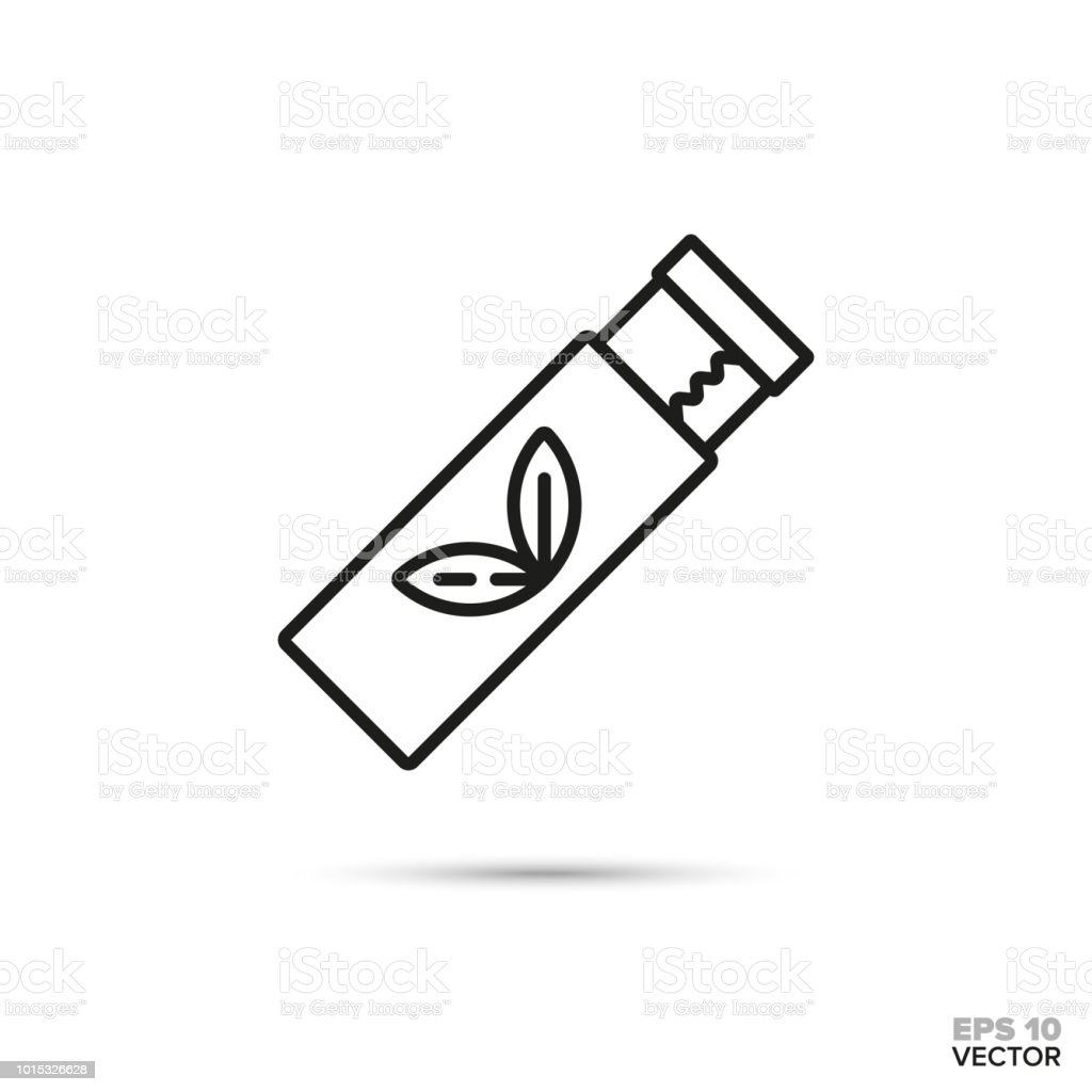 Chewing gum strips vector line icon vector art illustration