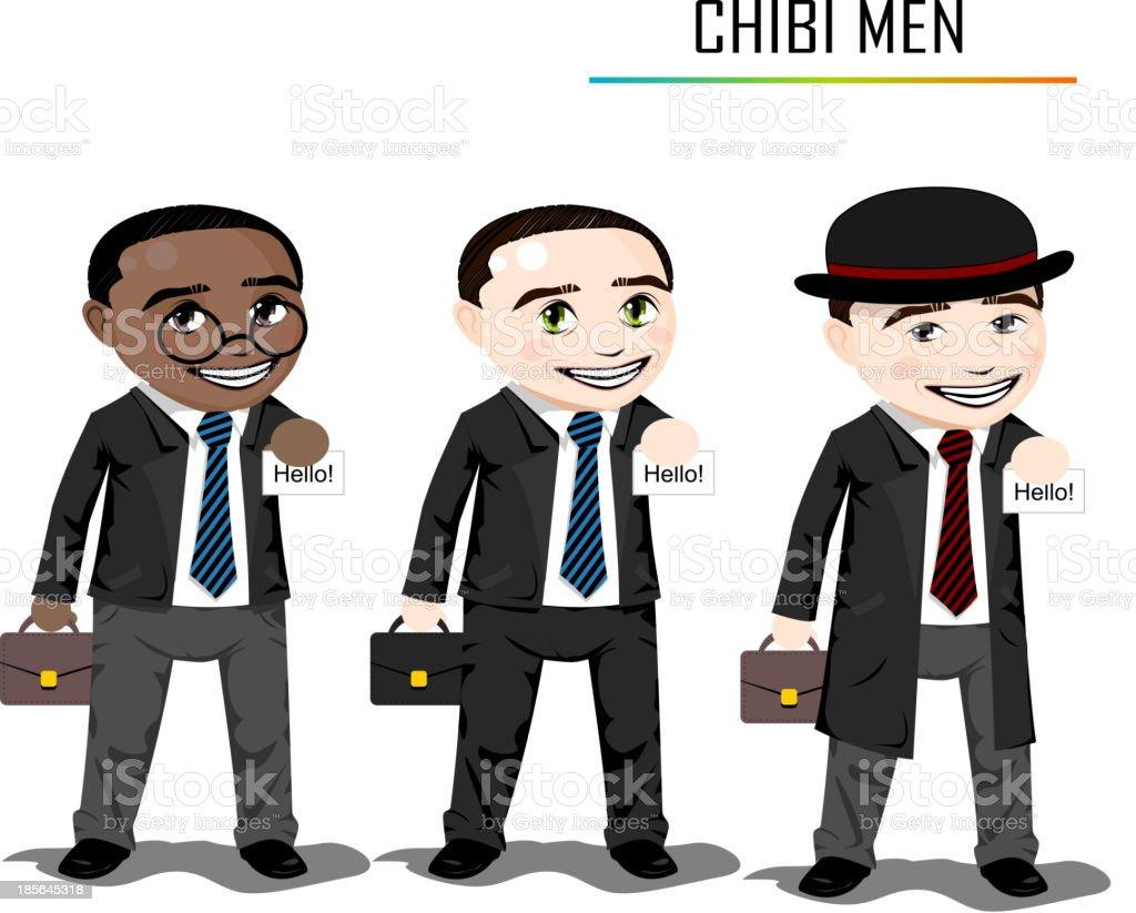 Chibi businessman vector royalty-free stock vector art
