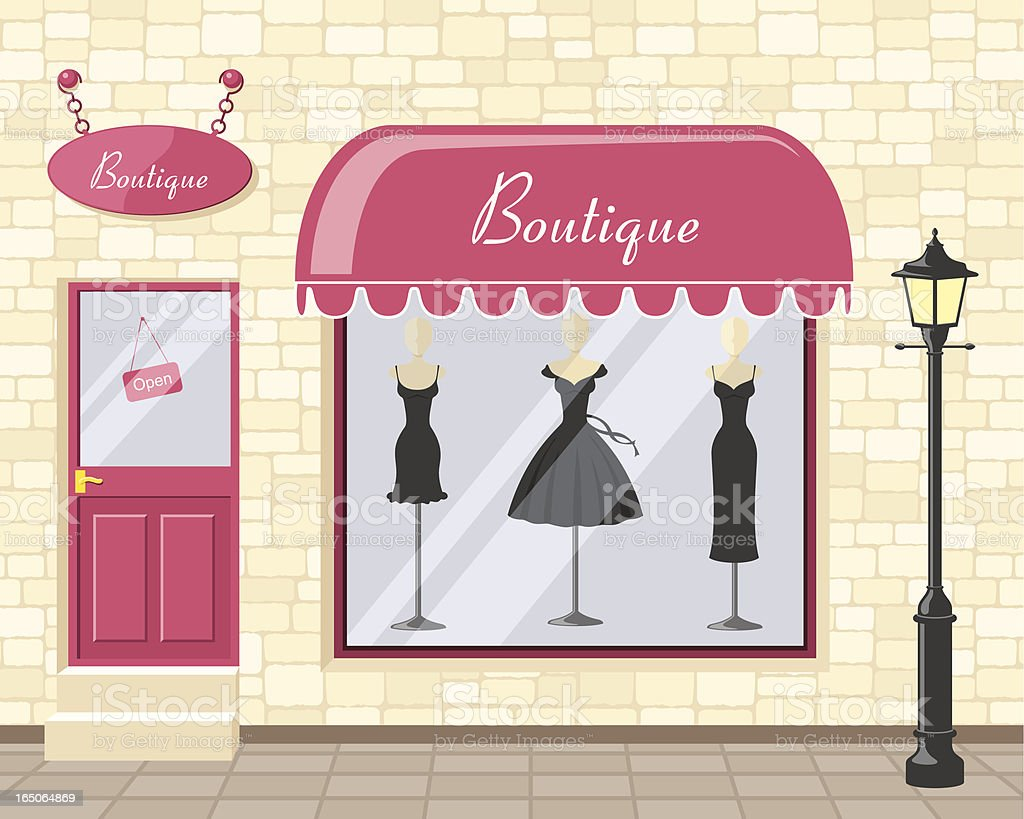 Chic Boutique - incl. jpeg royalty-free stock vector art