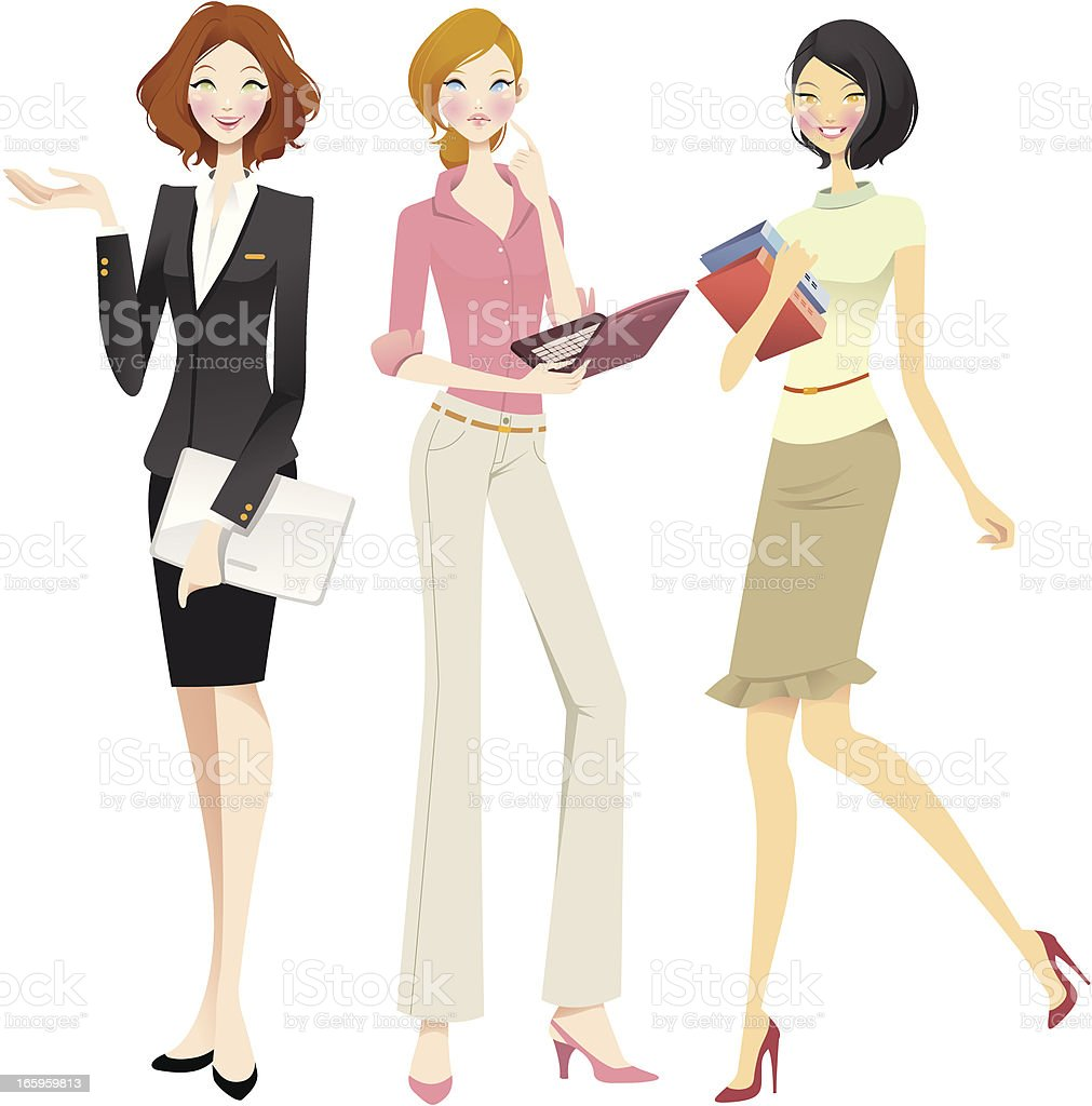 Chic Businesswomen set royalty-free chic businesswomen set stock vector art & more images of asian and indian ethnicities