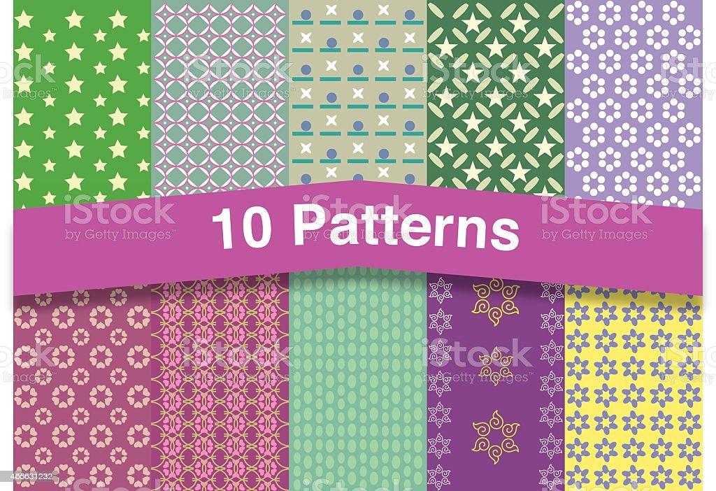 Chic patterns vector art illustration
