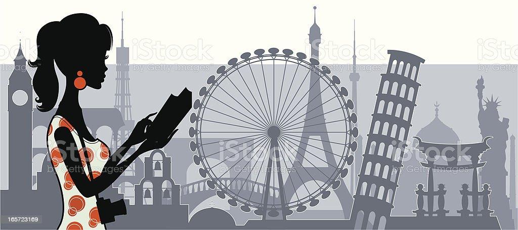 Chic Tourist royalty-free stock vector art