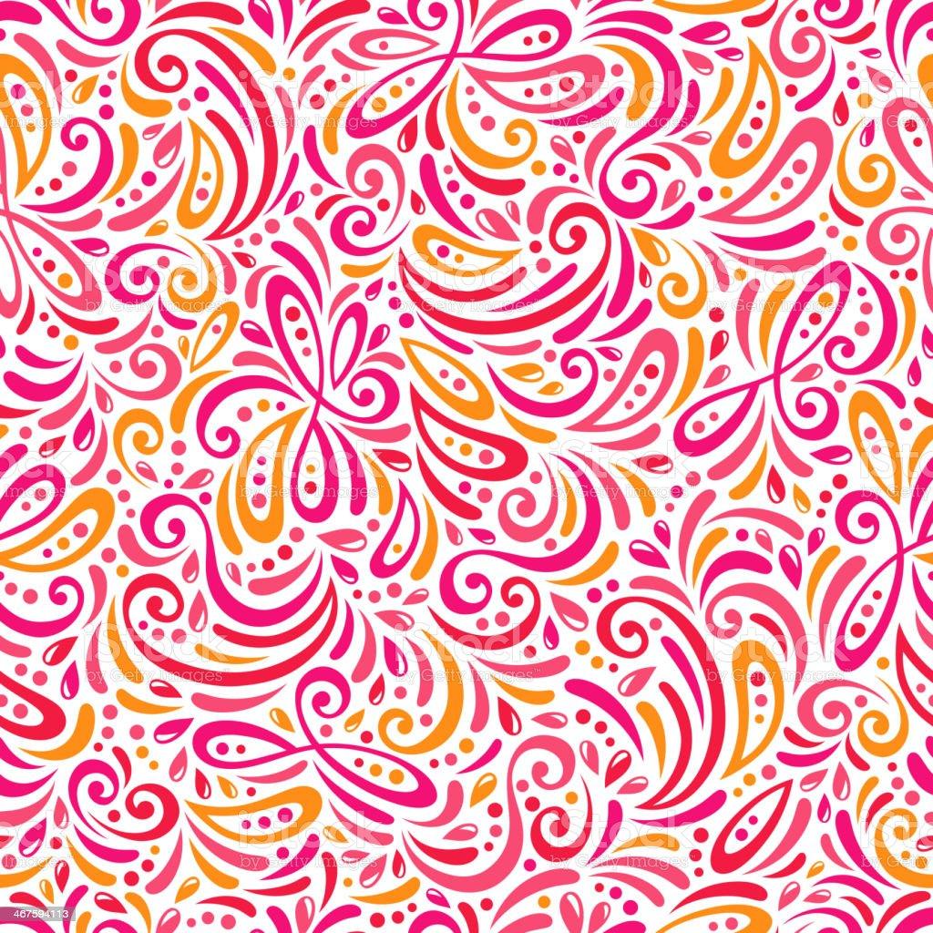 Chic vector seamless patterns (tiling). vector art illustration