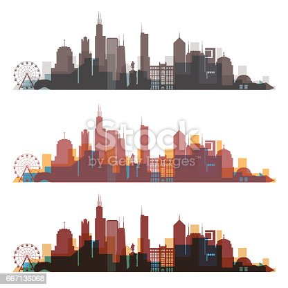Chicago 01-3 (Three silhouette)
