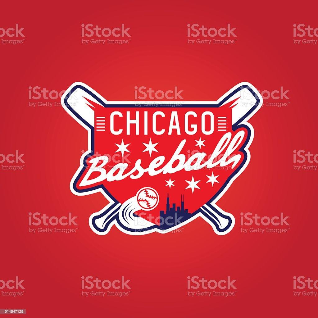 chicago baseball vintage sport coat of arms , vector crest – Vektorgrafik