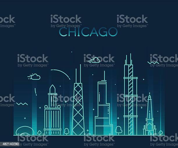 Chicago city skyline trendy vector line art vector id482140290?b=1&k=6&m=482140290&s=612x612&h=ti1dltasf9iyi8z 99tmtnezsxvdfqivwjqqh5gwgio=
