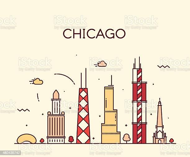 Chicago city skyline trendy vector line art vector id482435742?b=1&k=6&m=482435742&s=612x612&h=imorbwb5tk 51nlmm6pvdcxoa6pfhdzbkszvptbapzc=