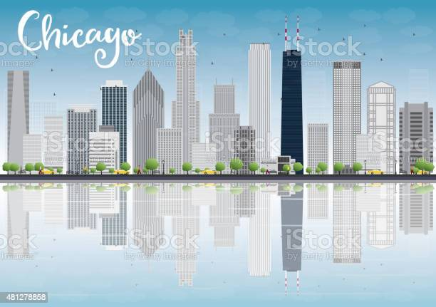 Chicago city skyline with grey skyscrapers and reflections vector id481278858?b=1&k=6&m=481278858&s=612x612&h=jxx ig9ejxpgbhn 3vfhkhbrh8xmruevve8laumszme=