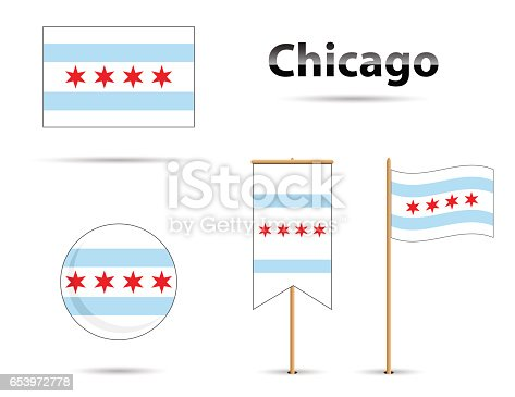 chicago flag stock vector art 653972778 | istock