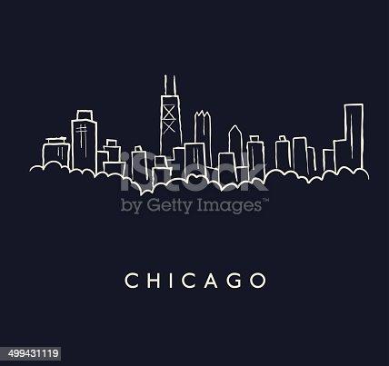 Chicago Skyline Sketch