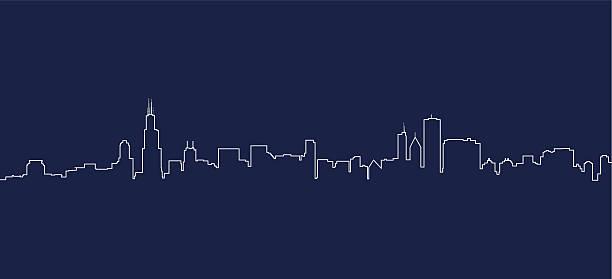 Chicago Skyline Chicago Skyline cityscape stock illustrations