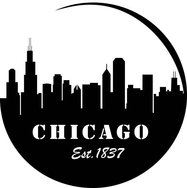 Chicago Skyline vector art illustration