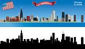 Vector Chicago Skyline