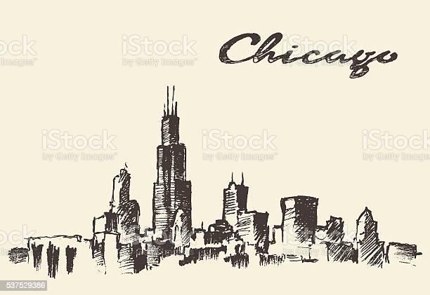 Chicago skyline vintage illustration drawn sketch vector id537529386?b=1&k=6&m=537529386&s=612x612&h=ctsa8e0yaafho5s4ytv4wc07w3z2eqmtzvjw0j7ouvq=