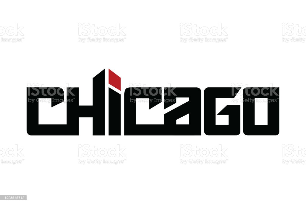 cd120f80 Chicago typography design vector, for t-shirt, poster and other uses -  Illustration .