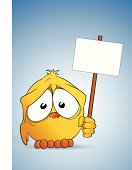 istock Chick and signboard 153256284