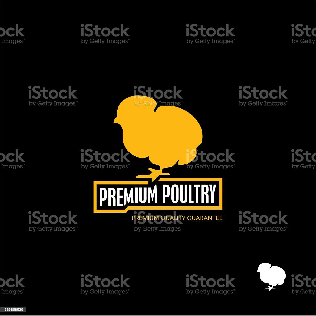 Chick. Chicken. Poultry. vector art illustration