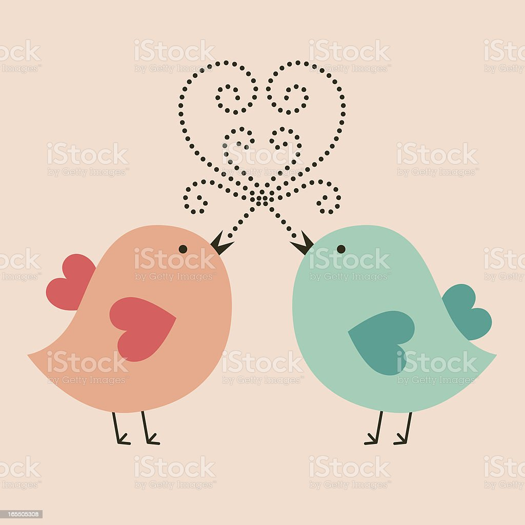 Chick Love royalty-free stock vector art