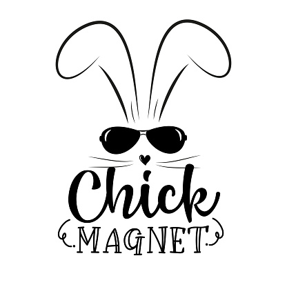 Chick Magnet- funny bunny for Easter.