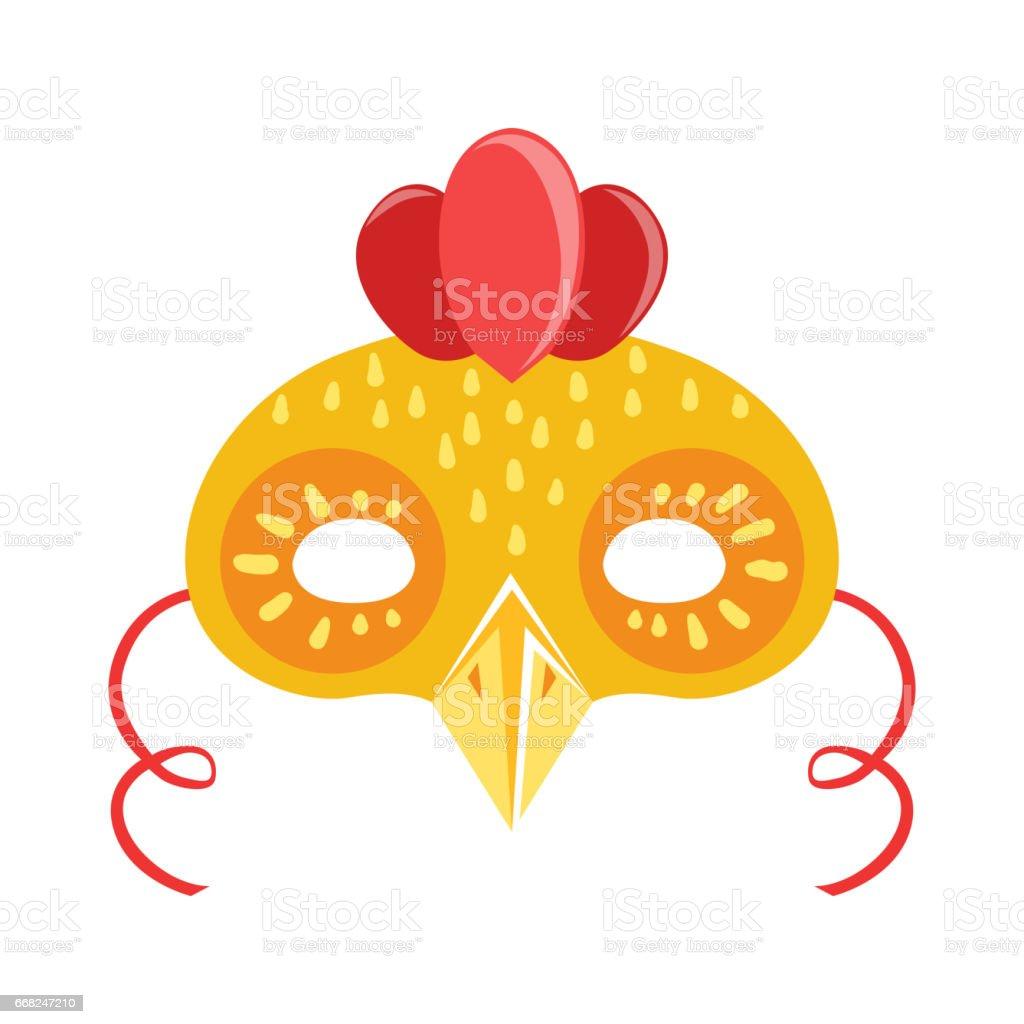 Chicken Animal Head Mask, Kids Carnival Disguise Costume Element chicken animal head mask kids carnival disguise costume element - immagini vettoriali stock e altre immagini di animale royalty-free